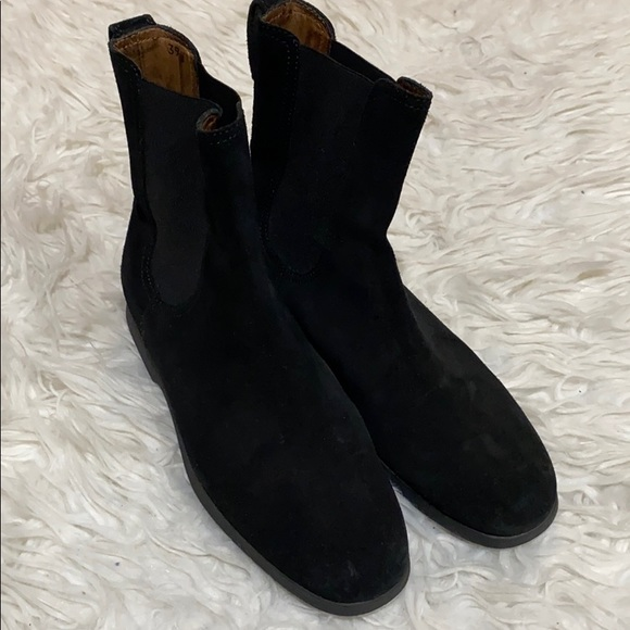 Tod's Black Suede Pull On Booties